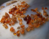 Orange Garnet crystal  by the gram lot - natural - gem mineral - small specimen -  red garnet - wire wrap stone - spessartite hessionite iJ9