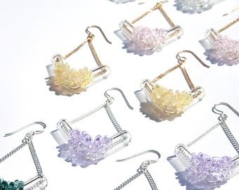 Glass Cluster V Earrings