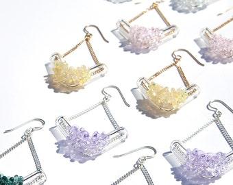 Glass Cluster V Earrings