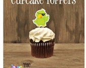 Yo Ho Pirate Party - Set of 12 Pirate Bird Cupcake Toppers by The Birthday House