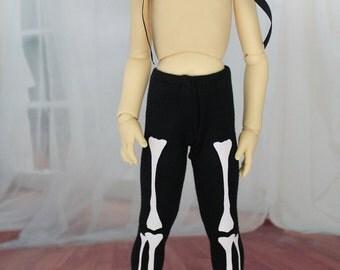 Skeleton Bone Pants for Volks Mini Super Dollfie BJD, Leekeworld MSD, and other Standard Sized MSDs