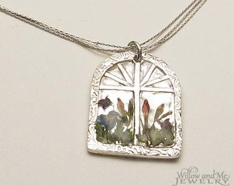 Silver Window Garden Necklace