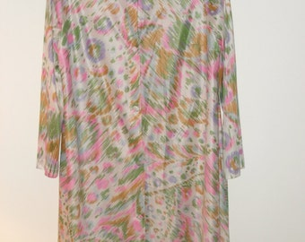 Vintage 60s Multicolored Robe, Size Small