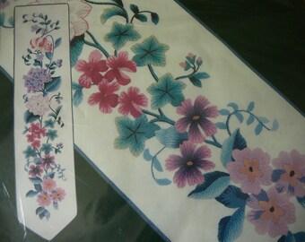 RARE Vintage - Elsa Williams Crewel Kit - Springtime Celebration Bellpull - NIP