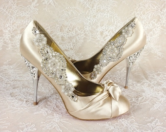 Wedding Shoe Clips, Bridal Shoe Clip, Crystal Shoe clip, Rhinestone Shoe Clip, bridesmaids Shoe clips, Shoe embellishments