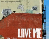 Urban Art, Love Me New York City Art, Graffiti Art, NYC Art, Urban Landscape, Street Art, Red Graffiti Print, Red Wall Art, NYC Photography