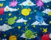 RARE Cat Fabric 1 Yard Cats in Night Sky Hi Fashion 1997 - #C15