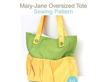PDF Sewing Pattern - Mary-Jane Oversized Tote Bag. Purse Pattern.