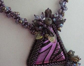 Dichroic Cabachon Necklace