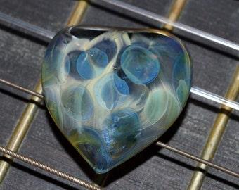 Exquisite Guitar Pick Honeycomb Blue Ether - Handmade Glass