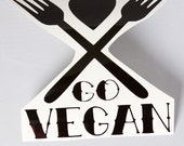 Go Vegan Roller Derby Helmet Vinyl Sticker / Vinyl Decal