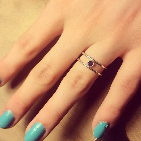 1 Stone Ring 14K (Amethyst) Made to Order