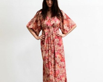 Vintage 70's DAYDREAM Floral MAXI Dress Size S/M/L