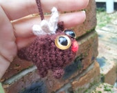 Rudolf the Red Nosed Cat - amigurumi cat themed ornaments for Christmas