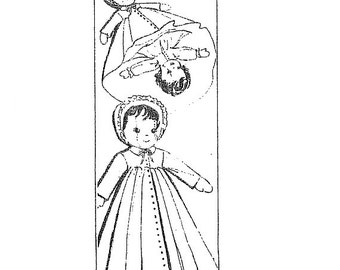 Topsy Turvy Doll PATTERN Asleep Awake Doll PATTERN 7121 a 12 inch Doll of the 1950s
