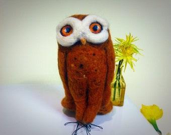 Henri the Needle Felted Owl