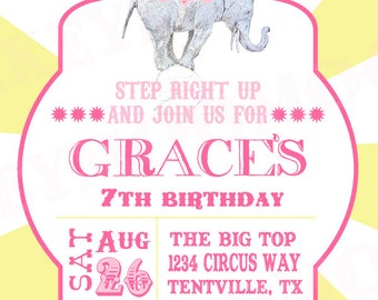 Printable Circus Party - Carinval Party Inivte