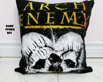 Arch Enemy Pillow #3 DIY Death Metal Decor (Cover Only)