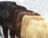 Lace Top fake FRINGE ... 100% Human Hair fringe clip in bang extension in Natural Colors