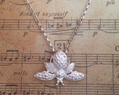 Sterling silver bumble bee necklace SAVE OUR BEES