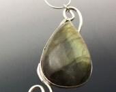 Golden Labradorite Necklace in Sterling Silver