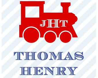 Train Gift Sticker, Enclosure Card, Book Plate or Address Label