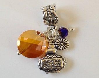 Eau de Toilette Charm Bead Perfume Bottle Bracelet Necklace Anklet Charm (LGD101)