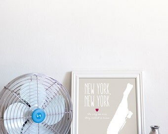 Manhattan / NY, NY / The City So Nice They Named it Twice // New York City / 8x10 Digital Print