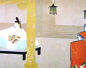 Vintage Samurai Print - Japanese Magazine Cut Out - Vintage Magazine Insert - Japanese Print -  Portrait of Taira no Shigemori