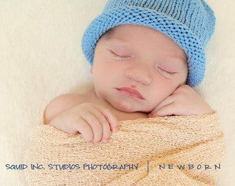 Blueberry Hat, Knit Cotton Fruit Baby Hat great photo prop