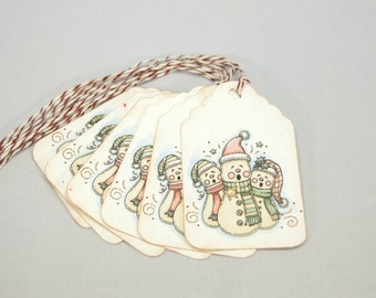 Tags Christmas Singing Snowmen Christmas Gift Tag  T211
