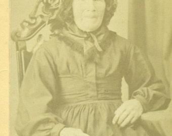 Watertown Wi Old Woman Wearing Bonnet Antique Wisconsin Carte De Viste Black White Photo Photograph