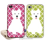 West Highland Terrier iphone Case fits iphone 6, 5, 5C, 4 and 4s, Westie phone case, Westie Phone Cover, Cute Dog iphone case, Dog iphone