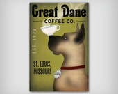 GREAT DANE Custom Personalized Coffee Tea Company Ready-to-Hang Stretched Canvas
