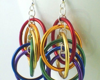 Rainbow Spiraled Mobius Hoops Earrings Tutorial - Colorful, Easy and Perfect for the Beginner - Expert PDF