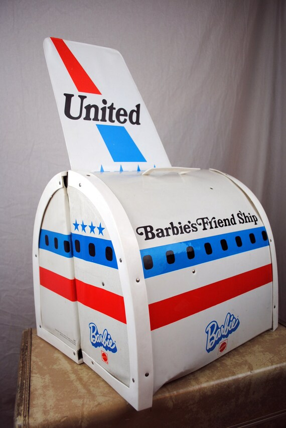 Barbie's Airplane Playset United Airlines Friend Ship