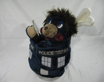 Doctor Whopple - Doctor Who Popple Plush Tardis Sonic Screwdriver optional 80s toy Tenth Doctor David Tennant