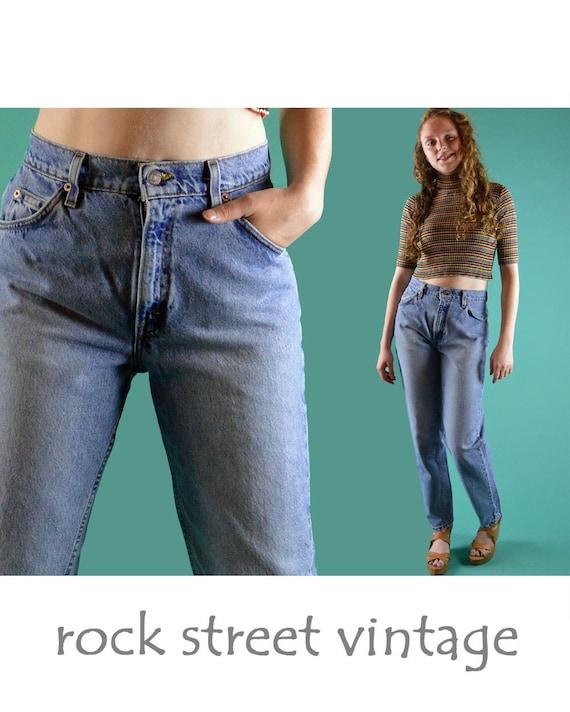 vintage 80er jahre levis 951 high waist jeans womens verblasst. Black Bedroom Furniture Sets. Home Design Ideas