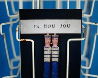 woodwoolstool [ik hou jou] postcard