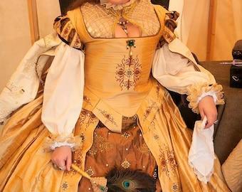 Renaissance Dress, Tudor, Elizabethan, Costume , Bridal Gown, (Made To Order) LABOR FEES