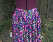 Maxi Skirt Floral Maxi Skirt Mod Skirt Psychedelic Maxi Skirt 1960s Maxi Skirt 1970s Maxi Skirt 60s 70s Maxi Skirt Festival Boho Hippie