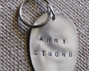 army keychain proud spoon keychain personalized army keychain