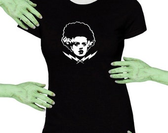 Voodoo Sugar Bride Of Frankenstein Monster 01 Black Missy Fit t-shirt Plus Sizes Available
