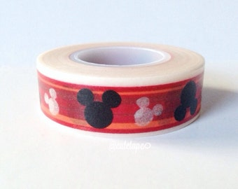 Disney ® Mickey Mouse Washi Tape Mickey Mouse Birthday Party Disney Party Orange Red Black White (licensed)
