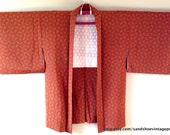 SALE 1960s Silk Cropped GEOMETRIC KIMONO Haori