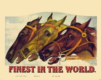 antique victorian race horses lithograph finest in the world DIGITAL DOWNLOAD