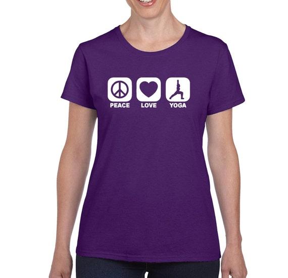 PEACE LOVE YOGA t shirt Yoga Top Yogo Shirt Yoga T Yogo Teacher Gift Meditation Workout Shirts Yoga Tank Workout Clothes Gym Shirts Clothes
