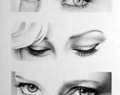 Anneke van Giersbergen Eyes  Pencil Drawing Fine Art Portrait Signed Print