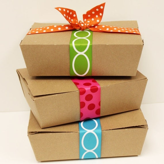 Kraft Food Box 8 Paper Boxes Brown Lunch