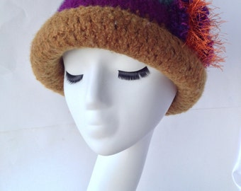 Felted Wool Cloche